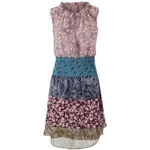 CABI #5371 Paisley Chiffon Smocked Dani Dress XS